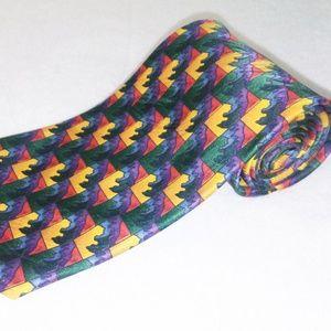 5/$25 Jerry Garcia Rainbow 100% Silk Tie NWT